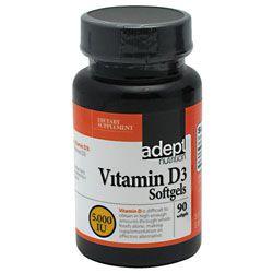 Adept Nutrition Vitamin D3 5,000 IU